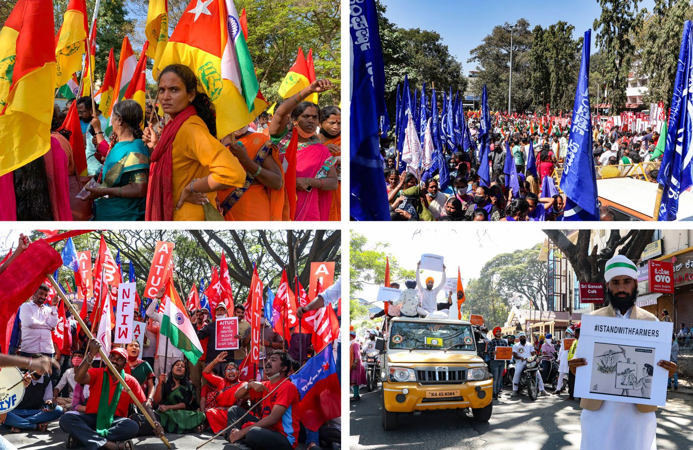 About 30 organisations are said to have participated in the Republic Day farmers' rally in Bengaluru. Students and workers were there too