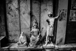 Sitting idol in locked-down Kumartuli