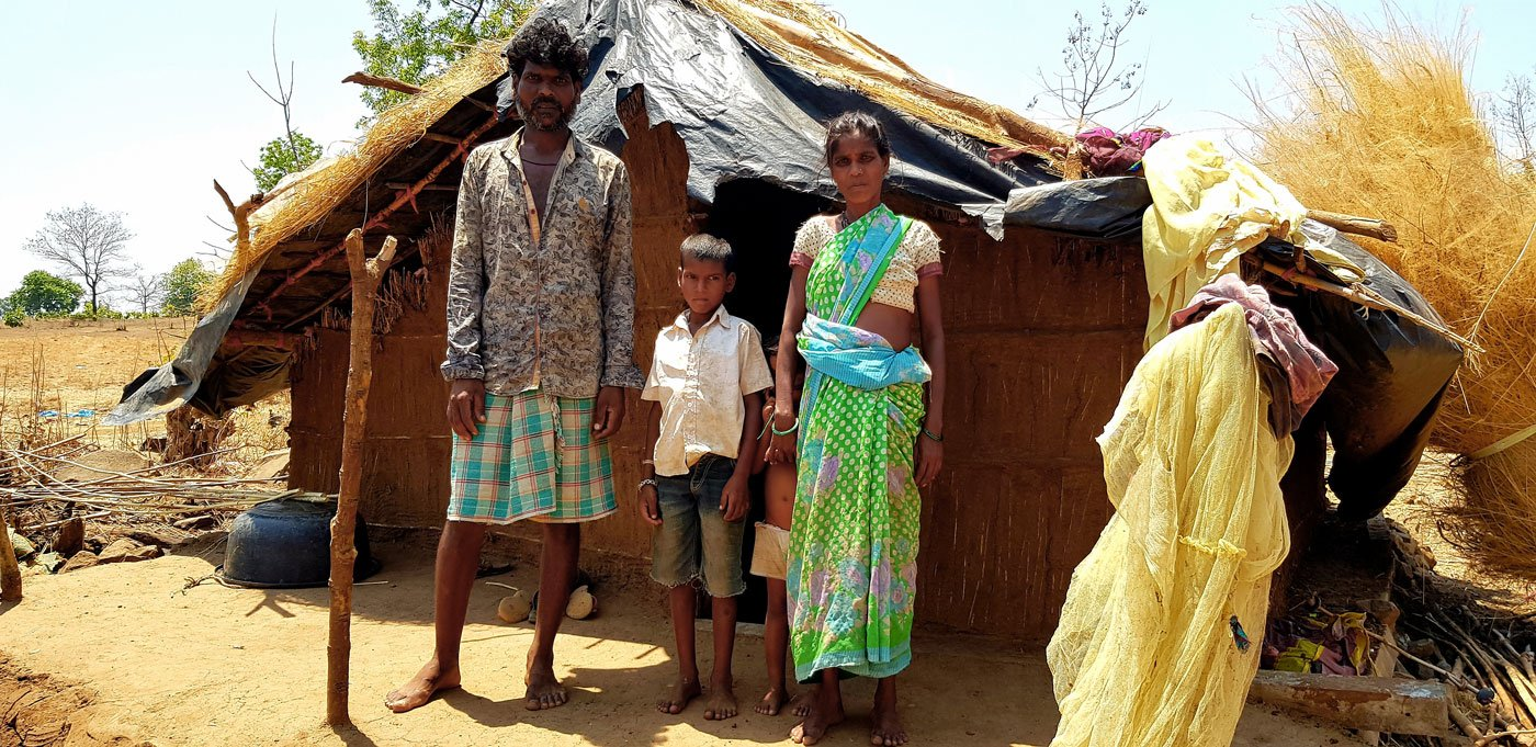 In the Adivasi cluster of Boranda village, Vanita Bhoir and her family, who migrate to work in the brick kilns of Maharashtra, have run out of work options, food and money – and are running low on hope too