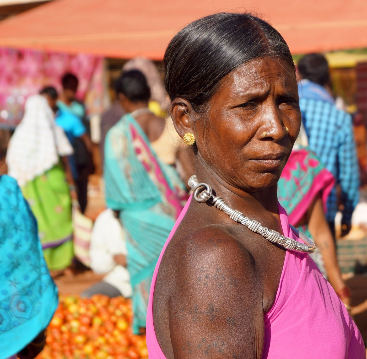 A tribal woman at Amabeda haat