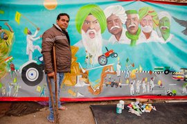 From Punjab to Singhu: painting a protest