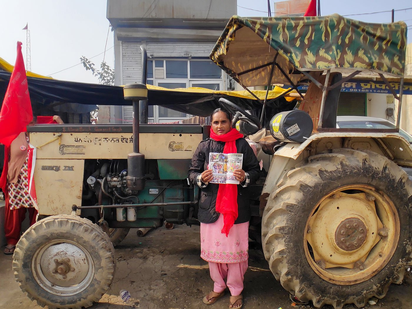 Sarbjeet Kaur drove her tractor for more than 400 kilometres from her village in Punjab to the Singhu farmers' protest site, and is now ready to participate in the tractor rally on January 26