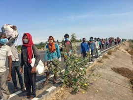 The long march of the locked-down migrants