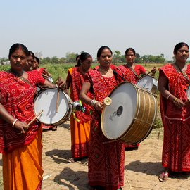Band members  of the Sargam Mahila Band