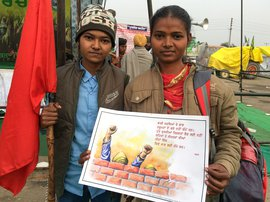 'This struggle is of farm labourers as well'