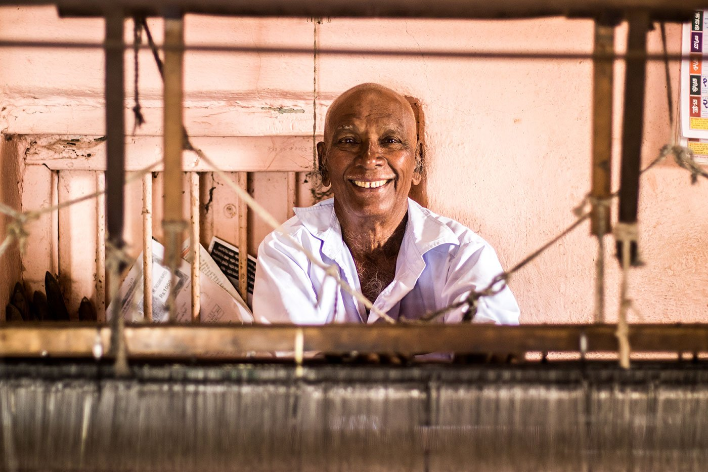 Vasant Tambe is the among the last four handloom weavers in the Rendal village alive
