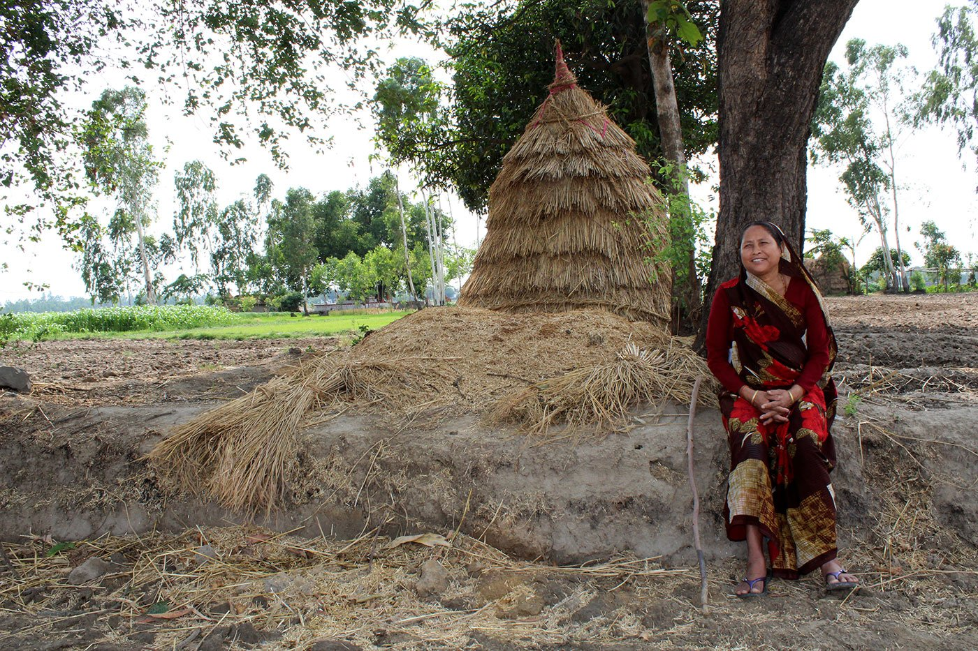 Kamla Devi at her farm in the village of Pindari (Udham Singh Nagar), Uttarakhand