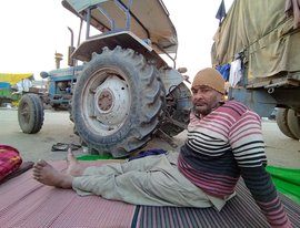 Farmer Harjeet Singh can't walk but stands tall