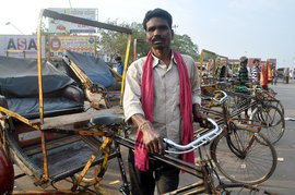 Prasanna's home is his rickshaw