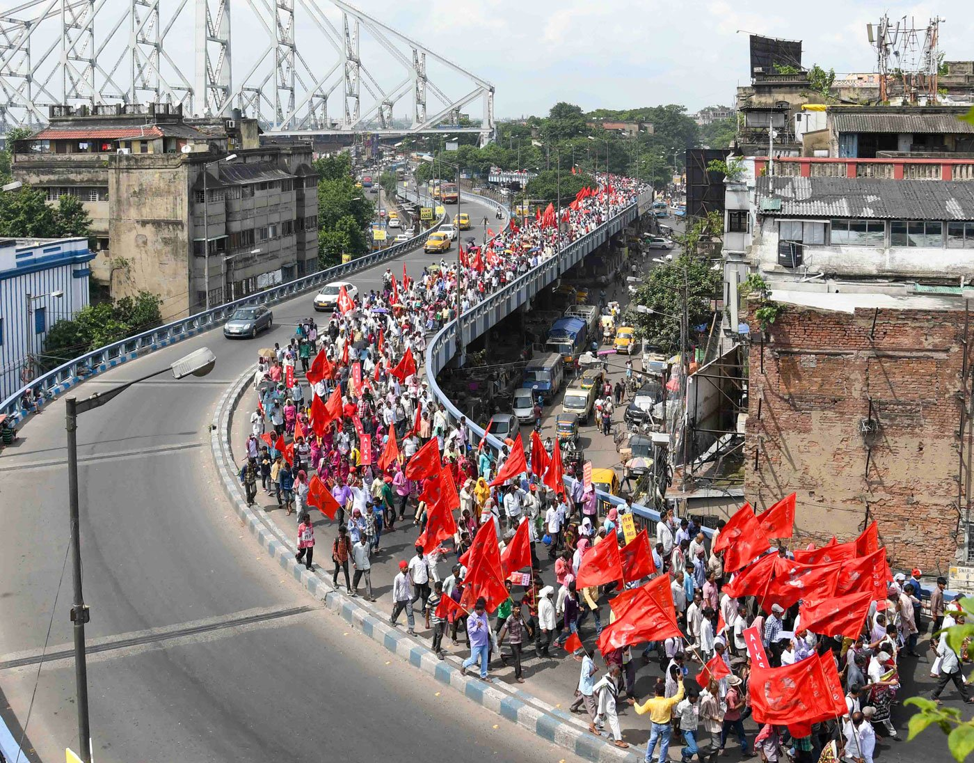 Rally organised by the AIKS-AIAWU (All India Kisan Sabha- All India Agricultural Workers Union)