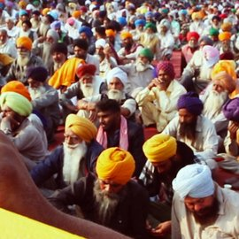 Punjabi farmers protest against the farm bill 2020