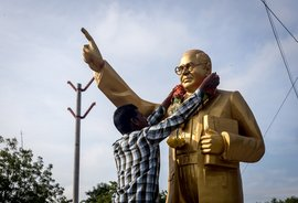 The garland on Anantapur's Ambedkar statue