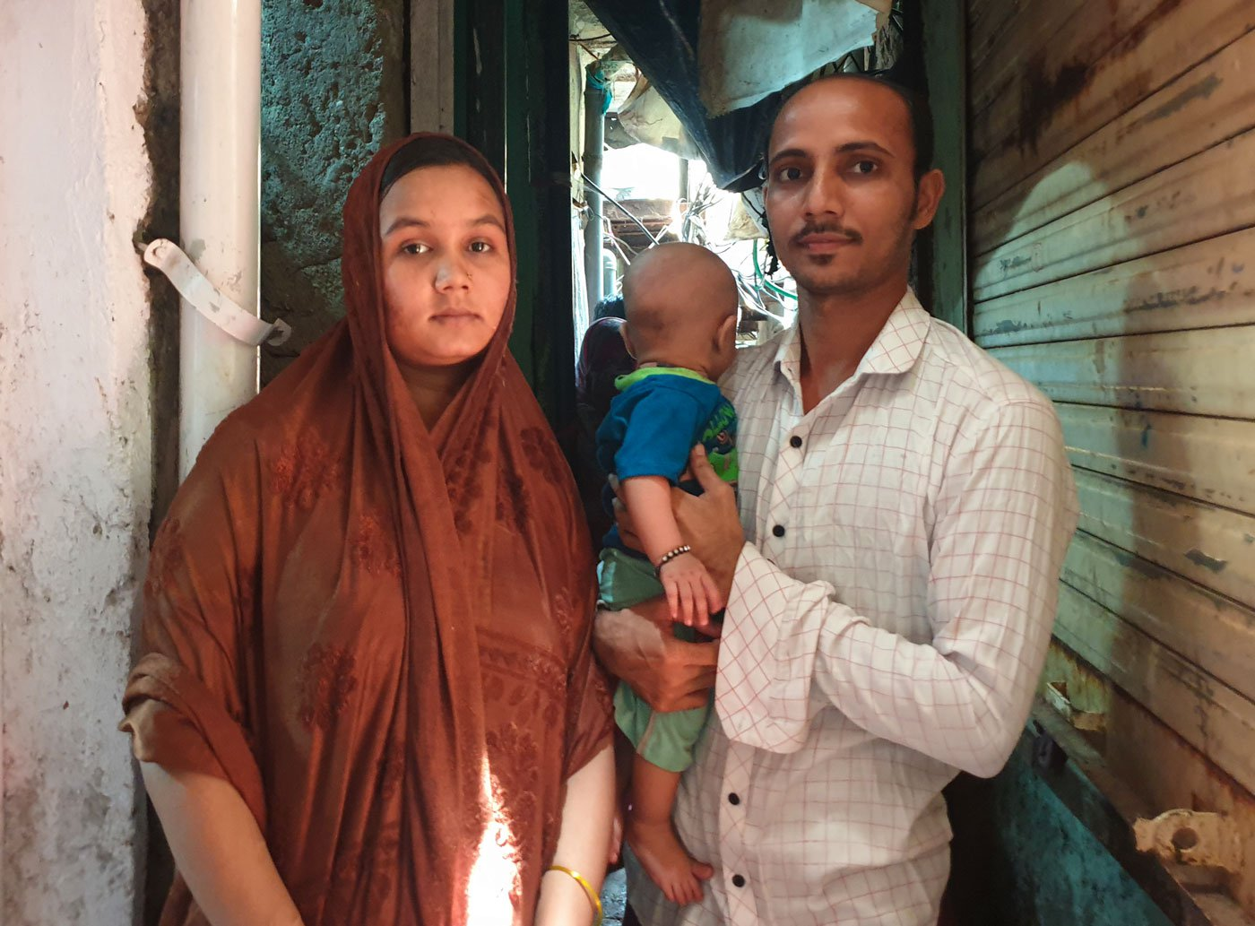 Mohammed Shamim, Gausiya and their son: 'If we get one seat, we'll board and then pay whatever fine or penalty is charged'