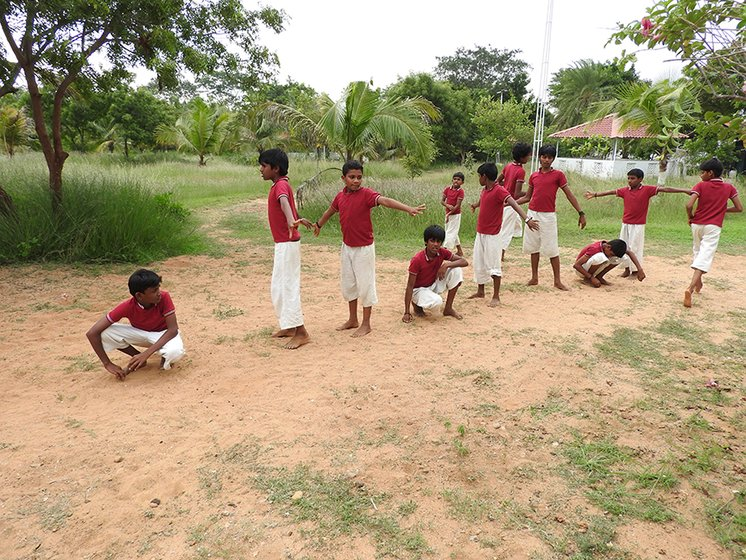 A game of kho-kho on a Saturday afternoon