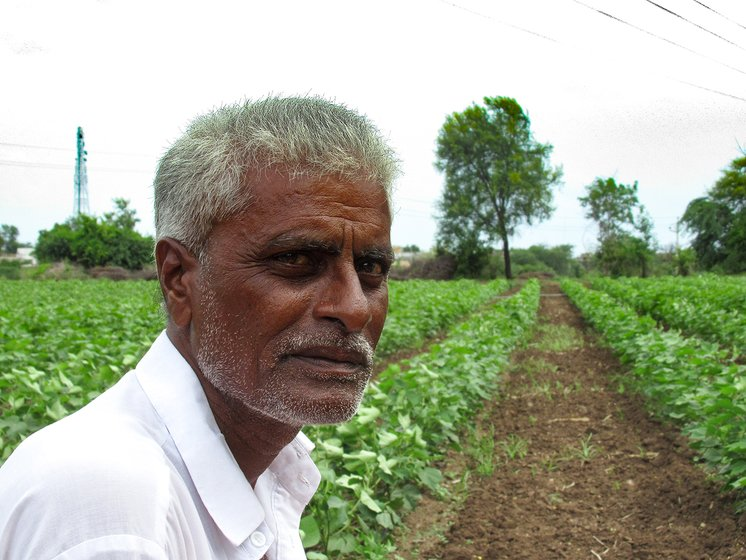 Shivaji Chavhal in his nephews farm