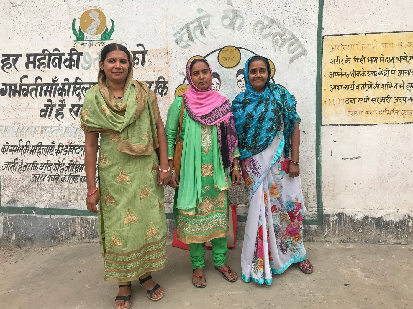 'As women, we can't be seen talking to men about sterilisation' say ASHA workers in Rampur village of Bihar's Araria district: Nusrat Banno (left), Nikhat Naaz (middle) and Zubeida Begum (right)