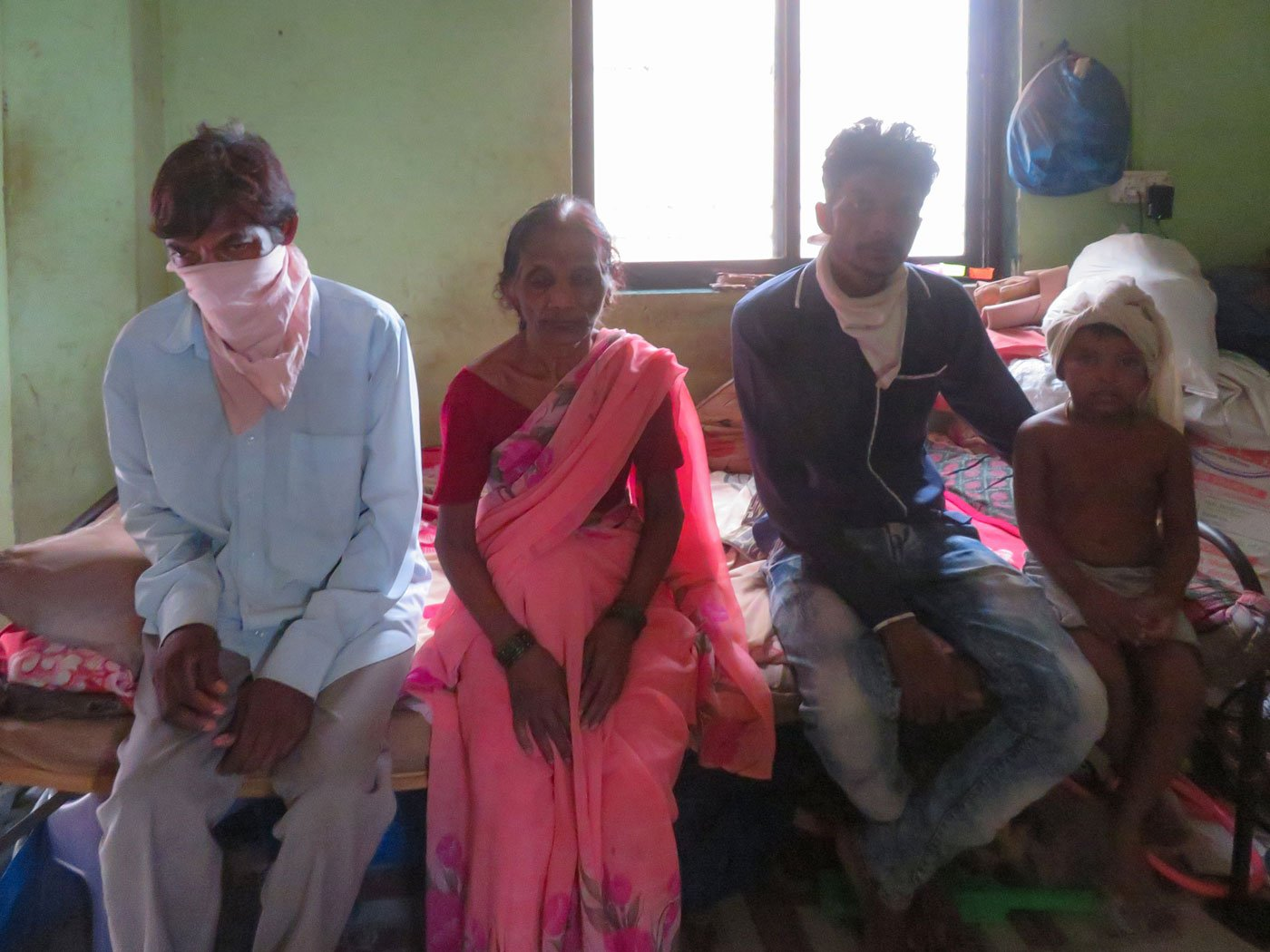The lockdown left Naresh and Vimal Thackeray, their son Sagar, his daughter Sakshi (left to right), and wife Manju, with no income