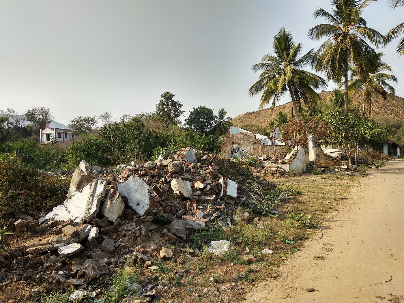 Houses demolished in Pydipaka in May – June 2016