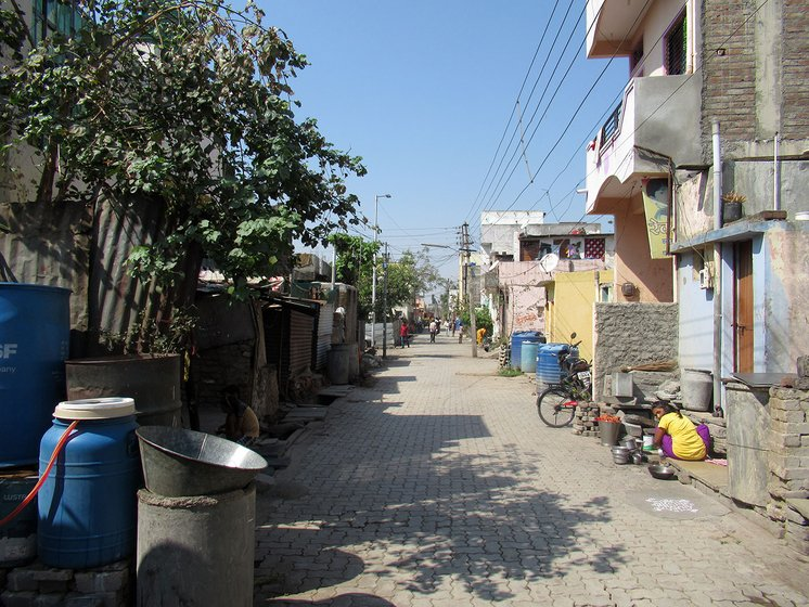 India Nagar Colony in Latur town