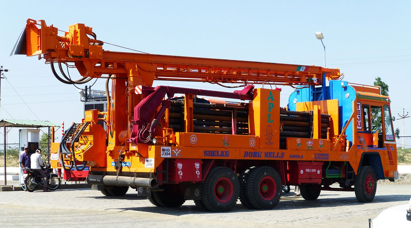 A borewell digging machine