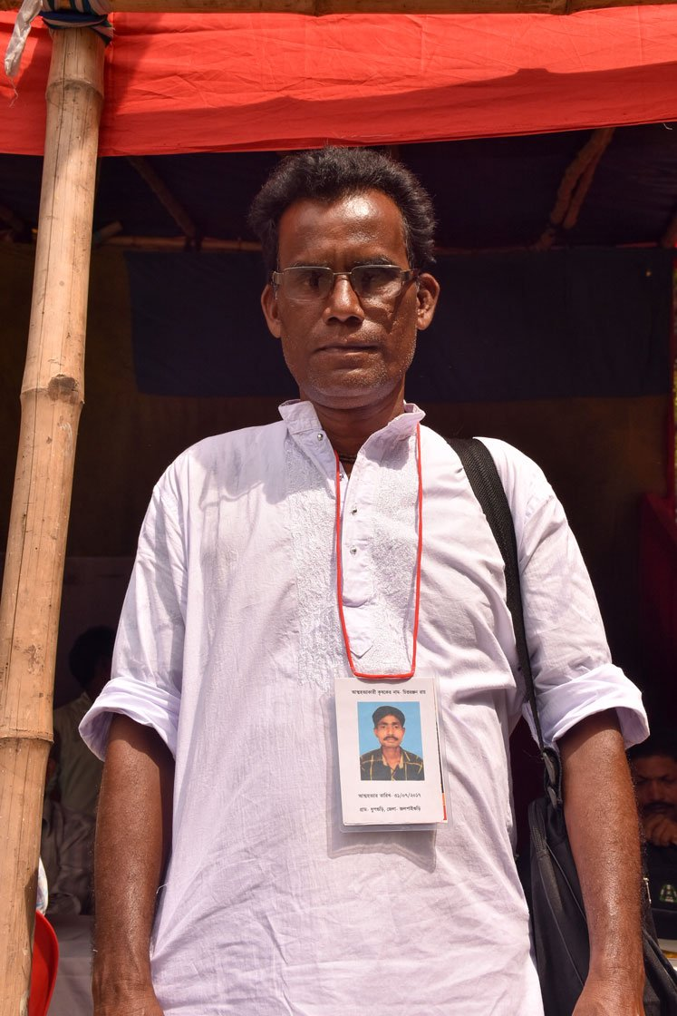 Uttam Roy at the rally