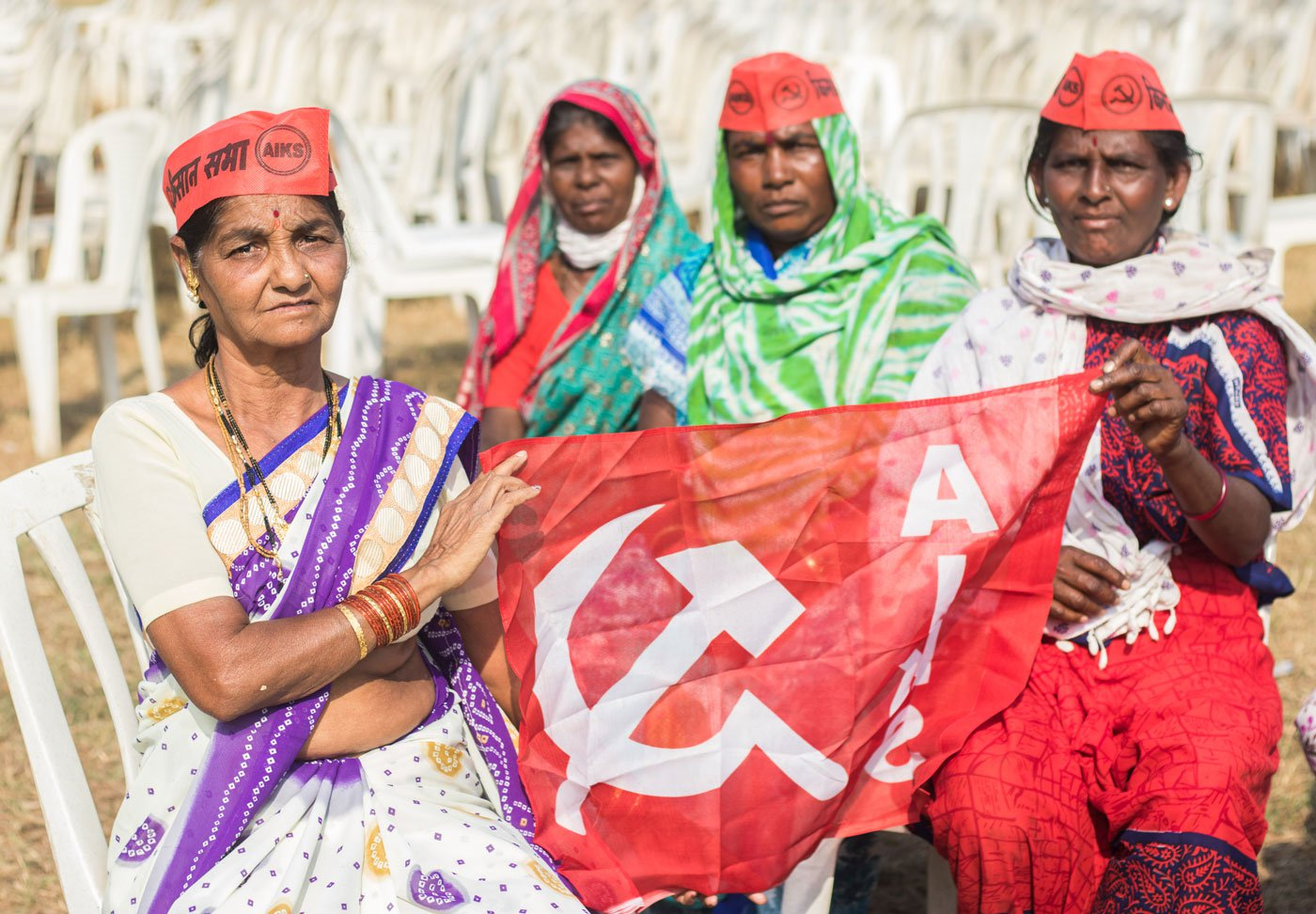 Women farmers from Nashik protesting