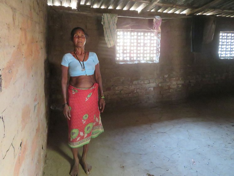 Sakhi Maitreya and her family, of Randolpada hamlet, went to work at a brick kiln in February this year: 'Last year we couldn't go because we feared that the earthquake would destroy our hut. So we stayed back to protect our home' (file photos)