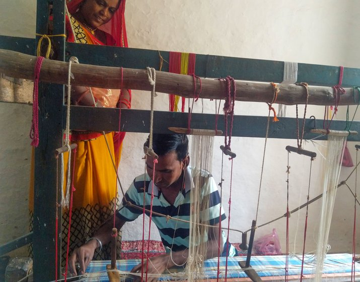 Suresh and Shyambai Koli had steady work before the lockdown. 'I enjoy weaving. Without this, I don't know what to do,' says Suresh