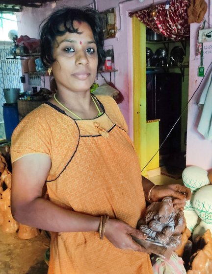 U. Gauri Shankar's family – including his daughter-in-law Madhavi – has not received a single bulk order for idols this Ganesh Chathurthi