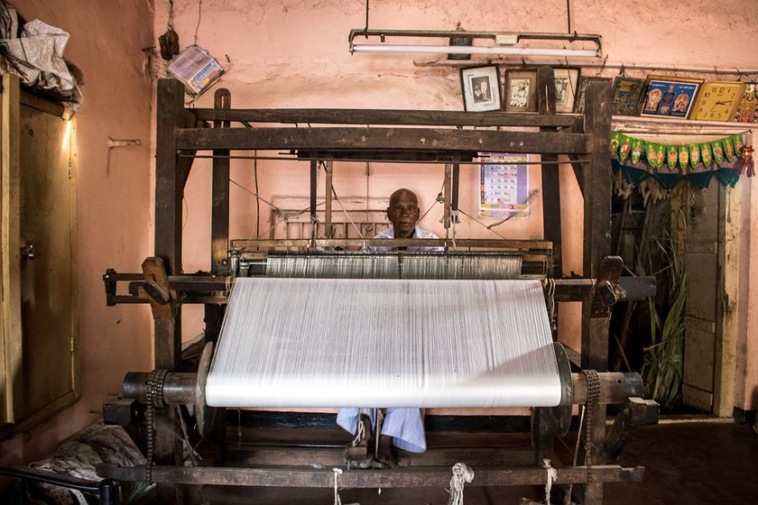 Vasant Tambe bought this loom from a weaver in Rendal for around Rs. 1,000