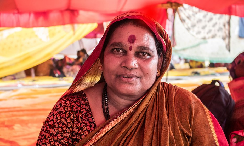 "Bhartibai Khode, who doesn't have a patta for the land says, ""This year I had to take a loan of Rs 20,000 from a money lender at 10% interest."""