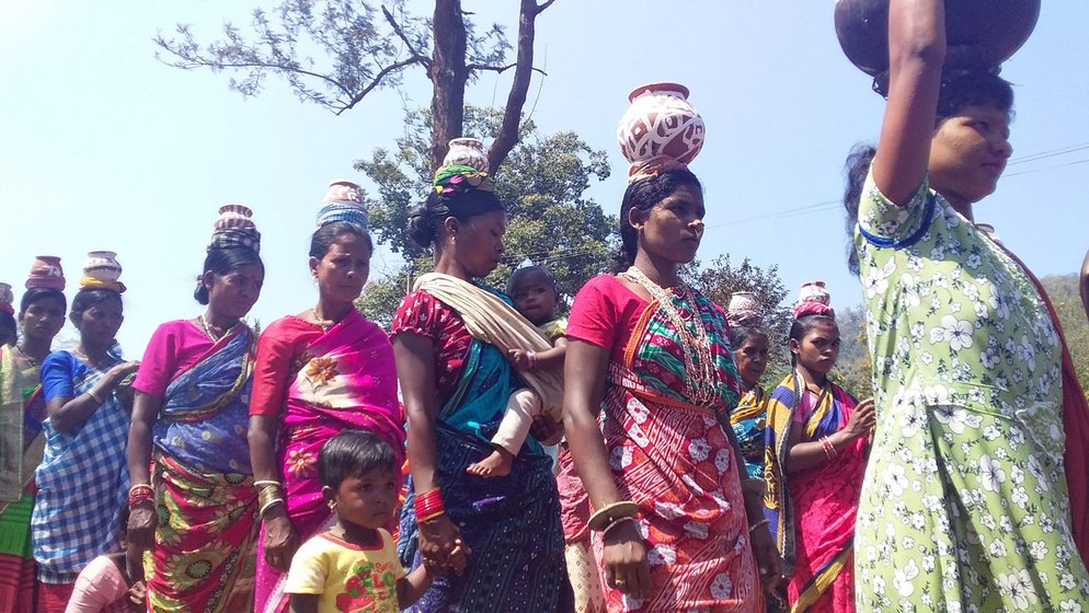 Balabati and other Adivasi women farmers attended the annual seeds festival this year