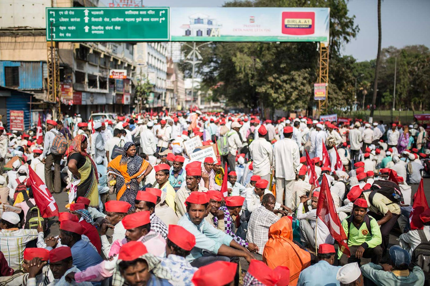 Thousands of farmers started the morcha from CBS Chowk in Nashik on March 6, to highlight their demands, which the government has repeatedly ignored.