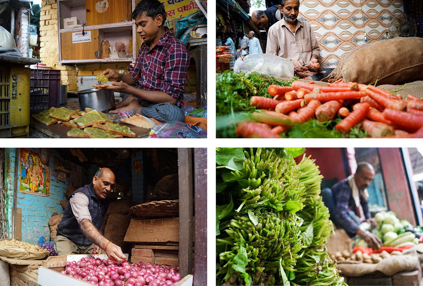 vegetable sellers in Delhi's market
