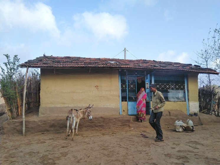 In Pacha Padla village, many families (including Dali Bada and her husband Badaji, centre image) use donkeys to carry drinking water uphill
