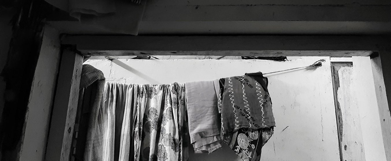 'I am a fool to believe that people like us can have someone to trust' says Soni, who filed a complaint at Nagpada police station after her daughter was raped. Clothes hanging outside Kavita's (Soni) room