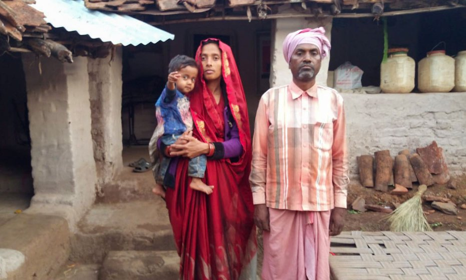 Dashrath Singh has been trying to get a family ration card since January, for himself, his wife Sarita and their daughter Narmada