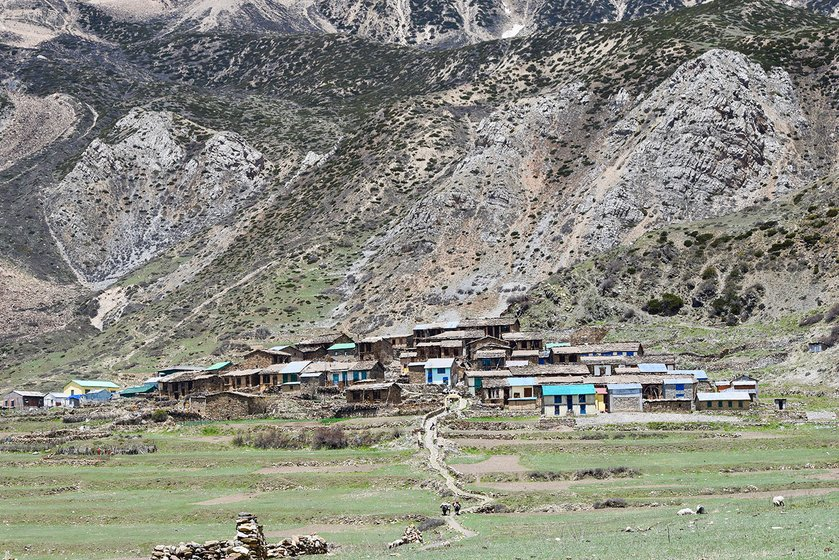 Kuti village, the last village of the upper-Himalayan Vyas valley.