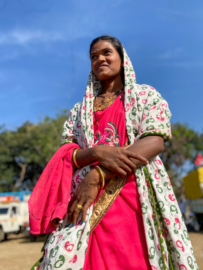 """I am tired of carrying water pots across two kilometres every day. We want water for our children and our land,"" says Geeta Gangorde, an Adivasi labourer from Maharashtra's Dhule district. Mohanabai Deshmukh, who is in her 60s, adds, ""We are here today for water. I hope the government listens to us and does something for our village."""