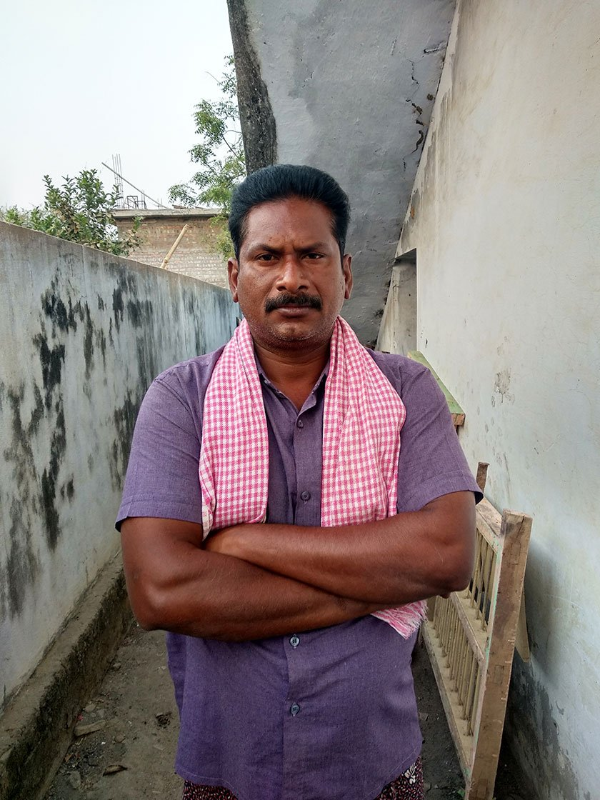 Banala Naga Poornayya, 32, one of the affected farmers and who spent 24 days in Nuzvid Sub-jail.