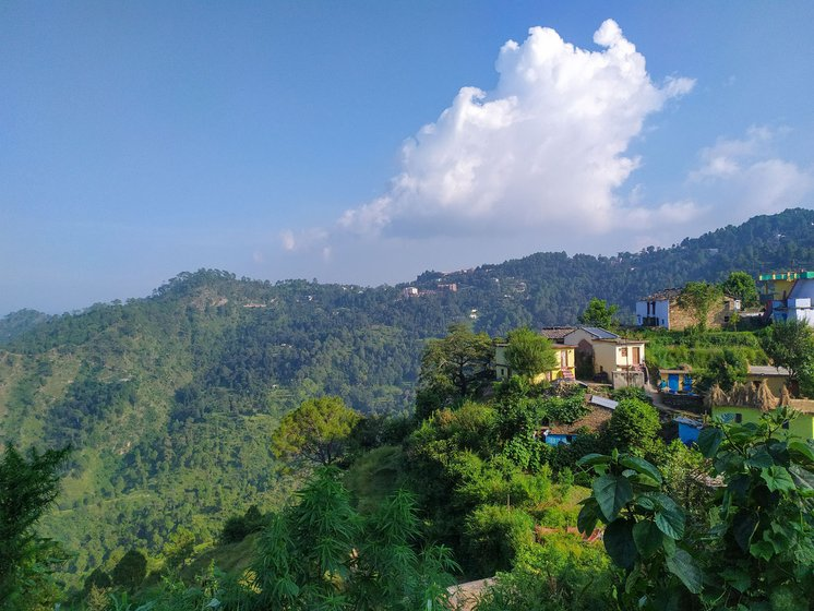 In February 2020, Rano Singh of Almora district gave birth on the way to the hospital, 13 kilometres from Siwali, her village in the mountains (right)
