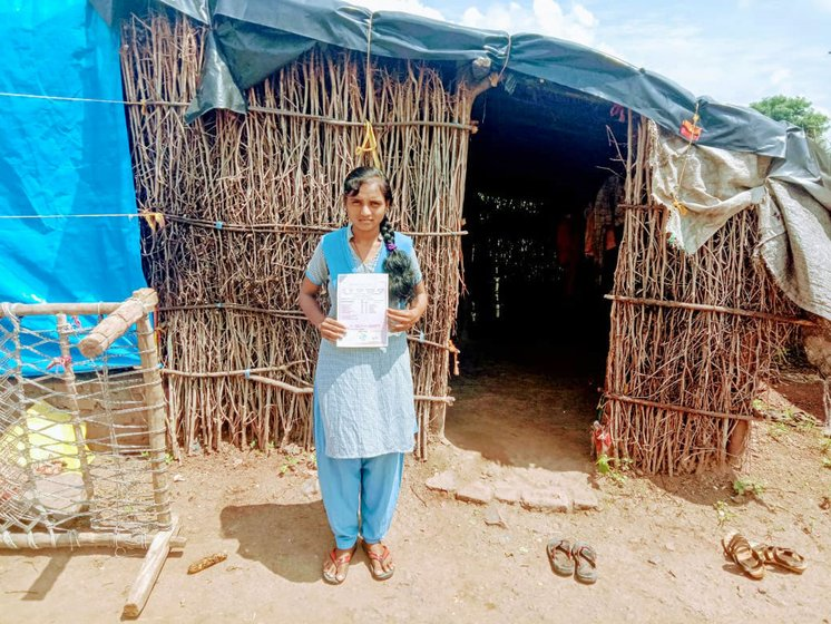 Jamuna with her family at their home in Nav Kh, a Nathjogi village: 'I was thrilled with my achievement: in our community, no girl has ever passed Class 10'