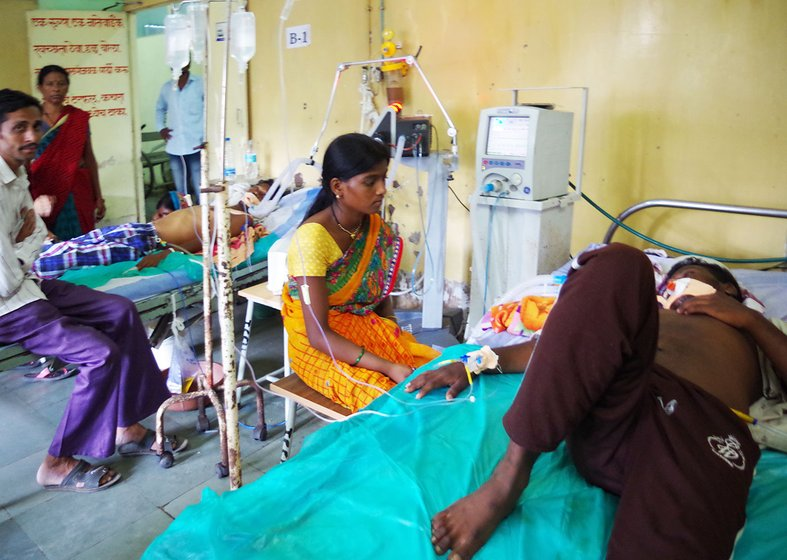 ICU of the Yavatmal Government Medical College and Hospital where farmer-patients were recuperating from the pesticide-poisoning effects in September 2017
