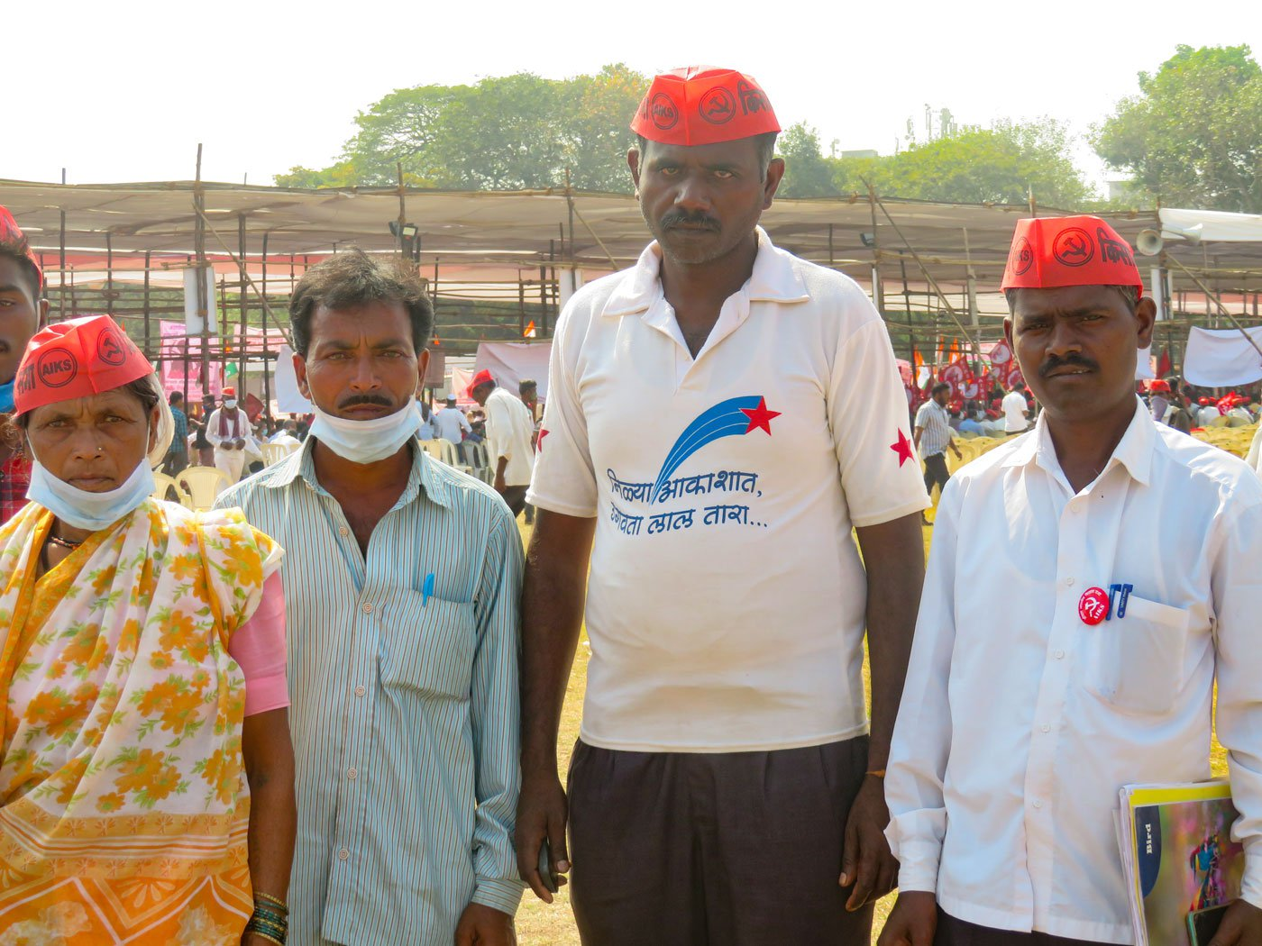 Bhagubai Mengal, Lahu Ughade, Eknath Pengal and Namdev Bhangre (left to right) believe that the laws will affect their households' rations