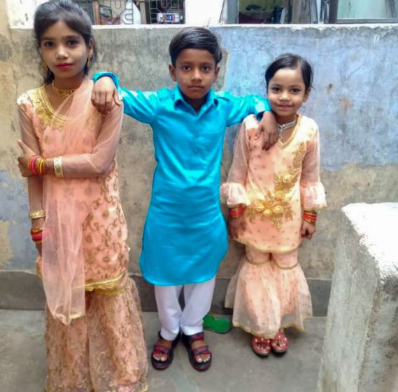 Rukhsana returned to Bihar in June with her four children, aged 12, 10, 8 and 2 (not in the picture)