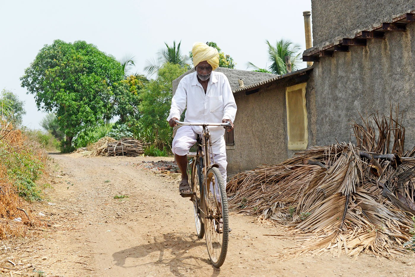Ganpati Bala Yadav on his cycle