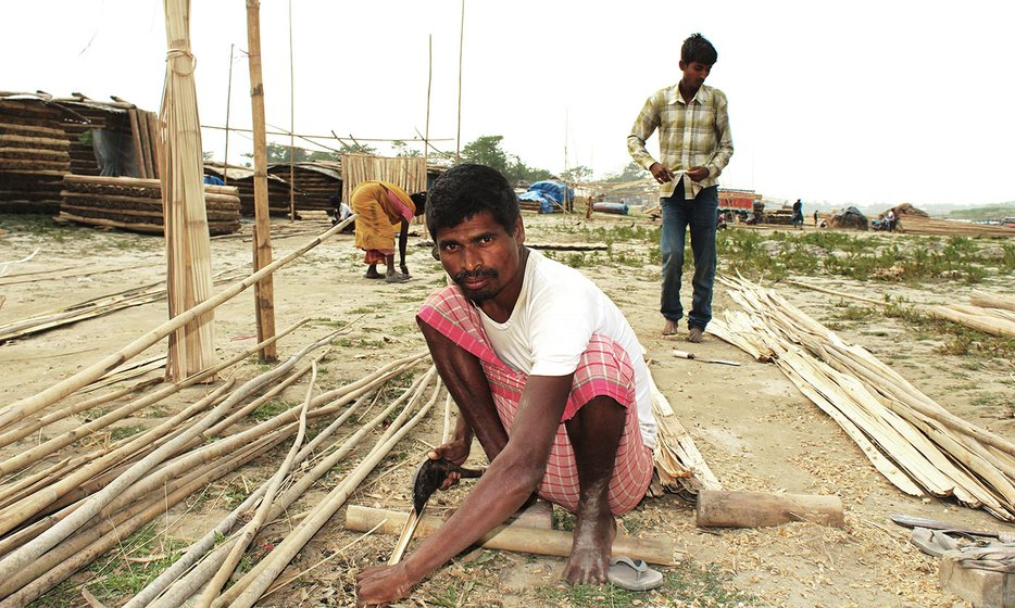 Mainuddin Pramanik, 35,  also comes to Dhubri every day from Kuntir char