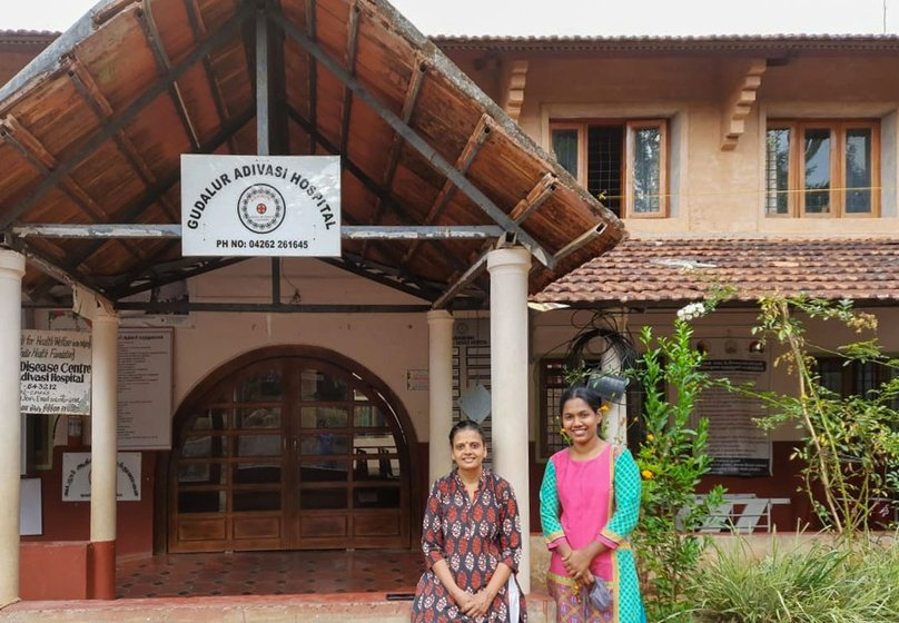 Left: Family medicine specialist Dr. Mridula Rao and Ashwini programme coordinator Jiji Elamana outside the Gudalur hospital. Right: Dr. Shylaja Devi with a patient. 'Mortality indicators have definitely improved, but morbidity has increased', she says