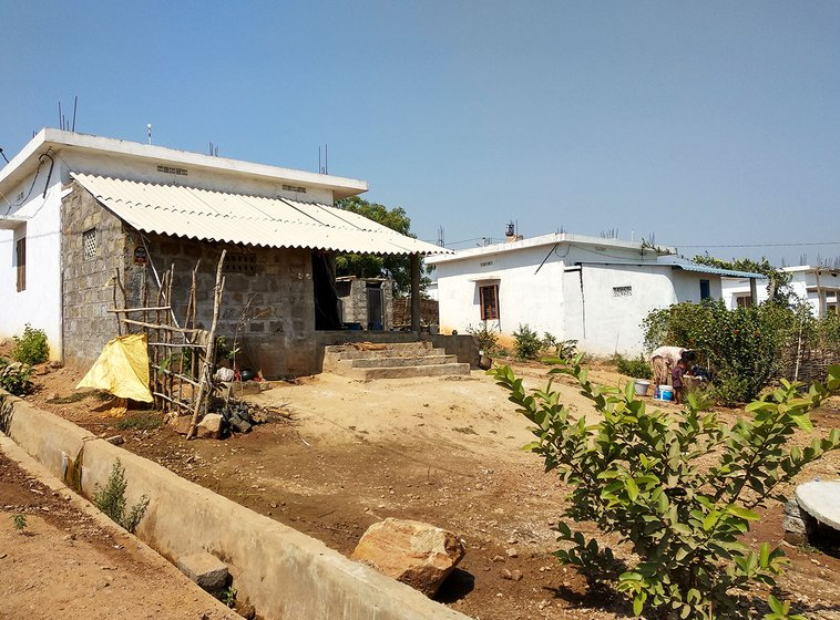 The small and unfurnished houses in the Pydipaka R&R colony