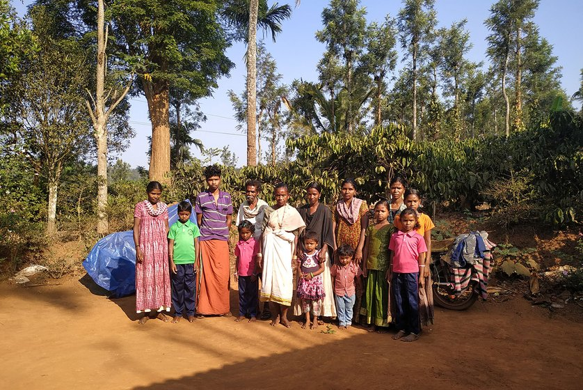 Shantini, 32 (left), is a Kattunayakan adivasi who lives with her relatives in Machikoli, a village in Devarshala taluk right next to the Mudumalai Tiger Reserve in Tamil Nadu's mountainous Nilgiris district.